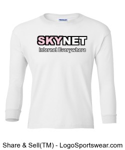 100% Heavyweight Ultra Cotton Long Sleeve Youth Tshirt Design Zoom